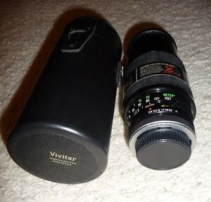 Vivitar Series 1 Camera Lens 70-210mm with Case & Lens Covers C/FD Canon Mount