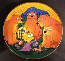 Franklin Mint MAGGIE AND THE BEARS (Simpsons) Matt Groening Plate No M5623(194G)