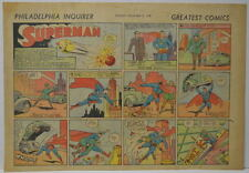 SUPERMAN SUNDAY COMIC STRIP #1 Nov 5, 1939 2/3 FULL Philadelphia Inquirer RARE
