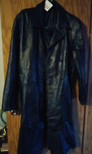 mens leather coat , trench coat size xl NWT