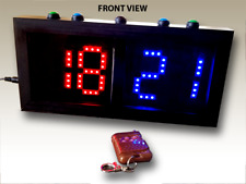 Double Sided Red/Blue Scoreboard (Direct & remote control version)