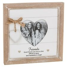 Provence Photo Frame Quote Heart Hanging Picture Shabby Chic Wooden All Occasion