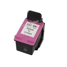 HP901 Colors Reman Ink Cart 94% Officejet J4524 Más Tinta 4500 J4535 J4540 J4550