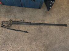 British 1821 Heavy Cavalry sword/saber with scabbard