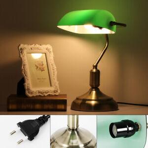 Nostalgic Bureau Lampe de Table Rétro Lampe de banquier abat-jour vert bureau