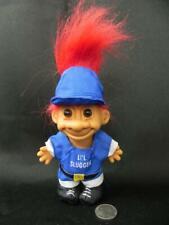 Vtg Li'L Slugger Baseball Troll Doll Red Hair Russ Blue white Uniform Cap Shoes