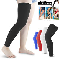 1 Pair Compression Leg Calf Long Sleeve Support Brace Stockings For Men Women