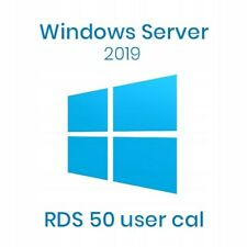 Windows Server 2019 RDS Remote Desktop Services - 50 USER Cals Option