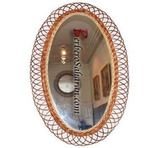 Handmade Algerian Small and oval Wicker mirror