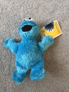 SESAME STREET COOKIE MONSTER Jim Henson   Plush 8 inch  Cbeebies