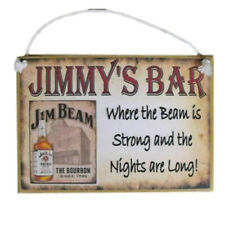 Country Printed Quality Wooden Sign Jim Beam Bar Personalized Plaque New
