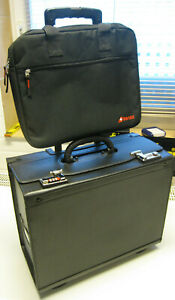 Pilotenkoffer original SwissAir Schweiz Echt Leder Pilotentrolley, Laptoptasche