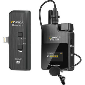 Comica Audio BoomX-D MI1 Ultracompact Digital Wireless Lav clip on mic for iOS