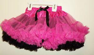 Child Girls Reversible TuTu Black/Pink Size 4-6 tutu02 Beautiful