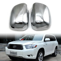 ABS Chrome Side Rearview Mirror Cover For 2001-2007 Toyota Highlander Chrome