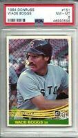 1984 Donruss #151 Wade Boggs PSA 8 Boston Red Sox HOF