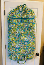Retired NWT Vera Bradley JAVA BLUE Hanging Garment Bag Travel Luggage Excellent