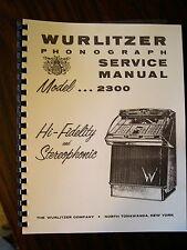 Wurlitzer Model 2300 - 2310 Jukebox Manual
