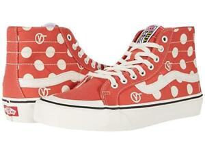 VANS Paprika Marshmallow Polka Dots V Circle SK8-Hi Decon High Top Wms Shoes NIB