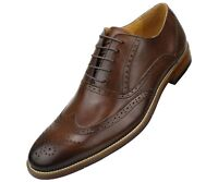 Asher Green Mens Genuine Leather Burnished Wingtip Oxford : Style AG1750-065
