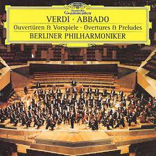 CD  Verdi Abbado Berliner Philharmoniker Overtures & Preludes