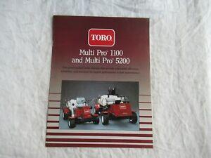 Toro multi pro 1100 5200 tractor vehicles brochure