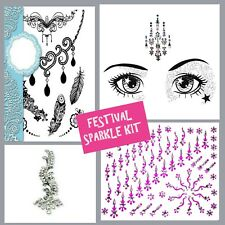 FESTIVAL JOB lot- BINDI- Stick On FACE GEM-Temporary TATTOO-GLITTER BODY JEWEL2