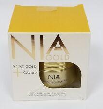 Retinol Night Cream Nia Gold 24 KT Caviar Manuka Honey Propolis
