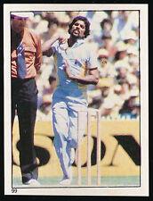 1983 Scanlens Cricket Sticker unused number 99 Kapil Dev