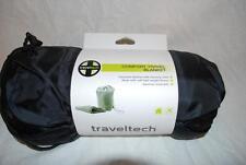 "New Traveltech 9053 Fleece Comfort Travel Blanket W/ Carrying Bag Blue 46"" x 60"""