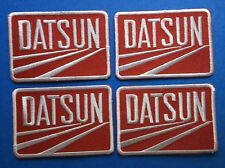 4 Lot Retro Datsun Iron On Car Club Seat Cover Hat Jacket Patches Crests