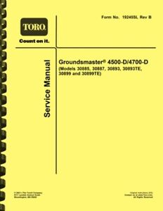 Toro Groundsmaster 4500-D and 4700-D SERVICE MANUAL
