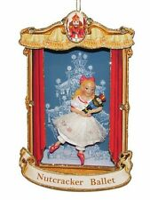 "KURT ADLER ""NUTCRACKER BALLET"" SHADOW BOX w/ CLARA CHRISTMAS ORNAMENT"