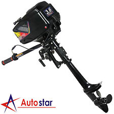 New 2 Stroke 3.6HP Heavy Duty Outboard Motor Boat Engine w/ Water Cooling System