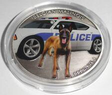 Niue 1 Oz Silver Belgian Malinois Sheepdog 2016 Color POLICE DOG K-9 UNIT