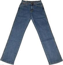 Stonewashed Wrangler L34 Herren-Jeans mit mittlerer Bundhöhe