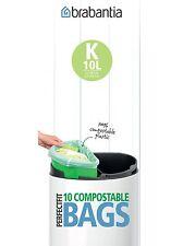 Brabantia Sacchetto di immondizia codice K biologico da 10 litri