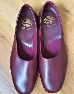 CHURCH'S AJAX WINE LEATHER SLIPPERS SIZE UK 10.5 F- NEVER WORN perfect condition