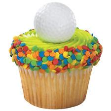 Golf Ball cupcake rings Golfer Golfing (24) party favor cake topper