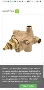 SYMMONS S-46-2X-BODY TEMPTROL TUB SHOWER VALVE BRASS MIX PRESSURE BALANCED STOPS