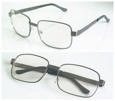 Gunmetal Eyeglass Frame Photocromic Transition Glasses Sunglasses Retro