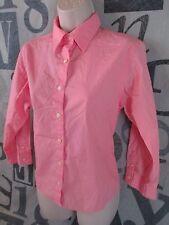 L.L Bean Pink Long Sleeve Fitted Dress Shirt Women Small 100% Cotton Button Down