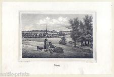 Saara - Thüringen - Lithographie um 1835