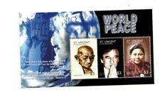 St. Vincent - MAHATMA GANDHI World Peace - Sheet of Three Stamps MNH