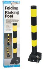 Streetwize Folding Robust Security Parking Post Driveway Bollard with Lock & Key