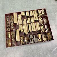 12p fette Messinglinien - Messing Linien Bleisatz Buchdruck Handsatz Letterpress