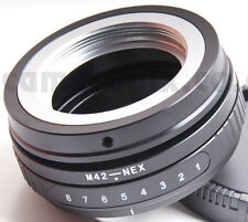 Tilt M42 Lente a Sony NEX E-Mount Camera Camcorder corpo Adattatore Convertitore Anello