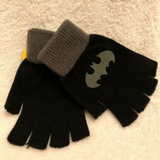 Batman Fingerless Knit Gloves - One Size Fits Most