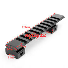 "11mm Picatinny Weaver Rail 10 Slots 125mm/4.9"" Rail base mount for Rifle Scope"