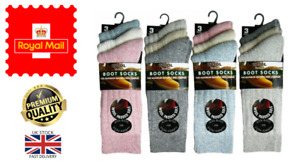 New 3 Pack of Ladies Chunky Wool Blend Padded Sole Walking Boot Socks UK 4-7